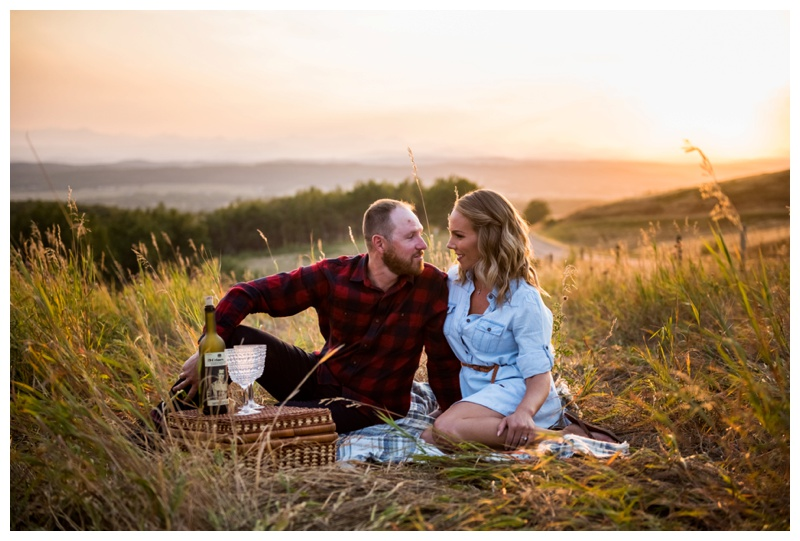 Calgary Picnic Engagement Photos