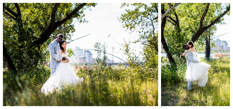 Calgary St. Patricks Island Bride & Groom Portraits