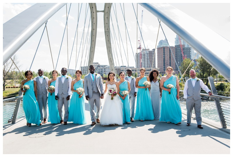 Wedding Party Photography - George C. King Bridge Calgary