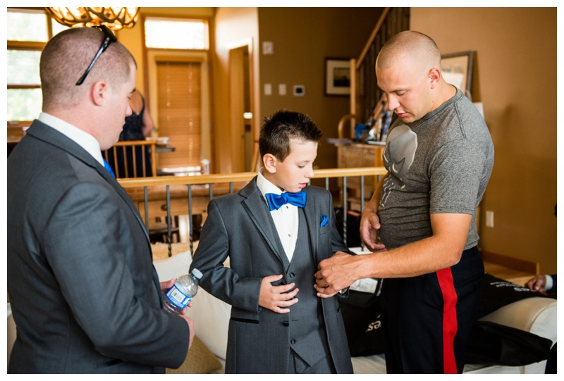 Groom Getting Ready Photography Canmore