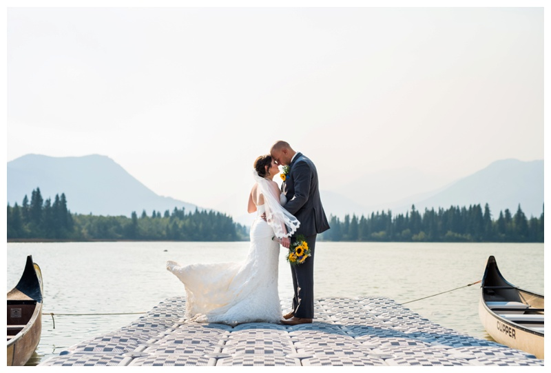 Mountain Lake Wedding - Canmore Alberta