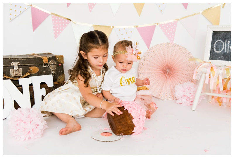 Sister First Birthday Cake Smash Calgary