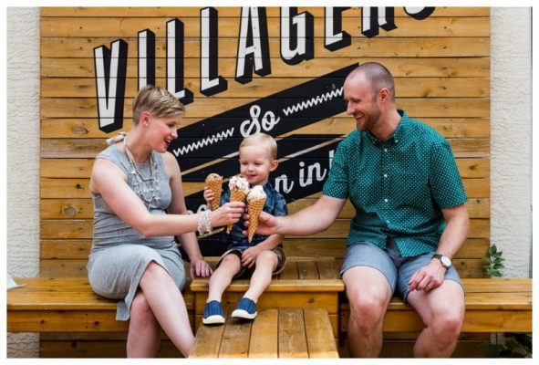 Calgary Village Ice Cream Family Photos | The Young Family | Calgary Family Photographer