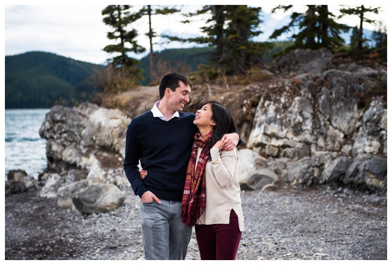 Banff Lake Engagement Photography