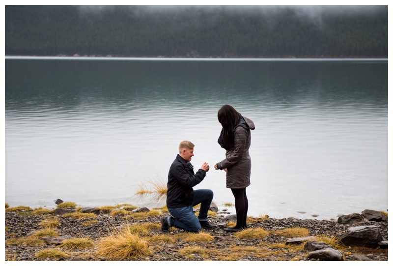 Banff Secret Wedding Proposal