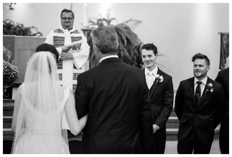 Calgary Catholic Church Wedding Ceremony