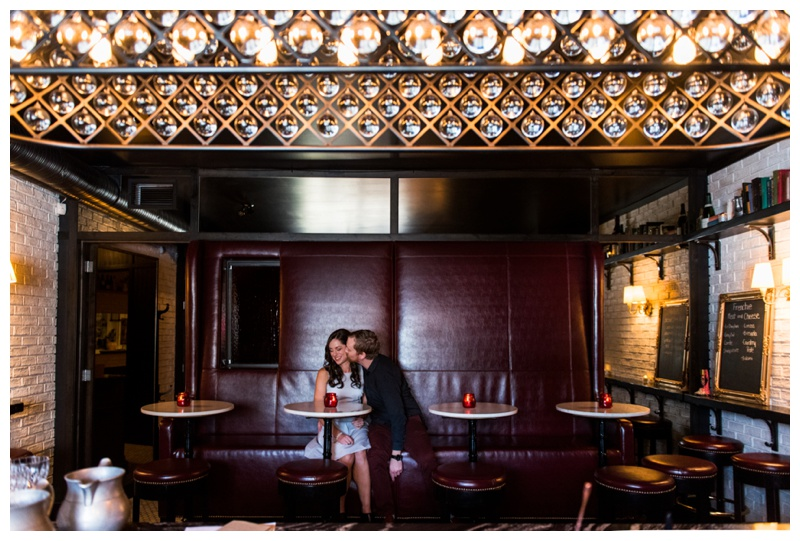 Calgary Frenchies Wine Bar - Calgary Engagement Photos
