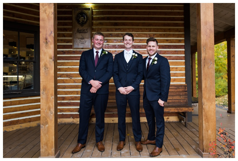 Calgary Groomsmen Photography - The Ranche Restaurant