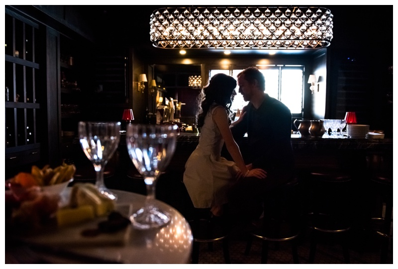 Calgary Restraunt Wine Bar Engagement Session