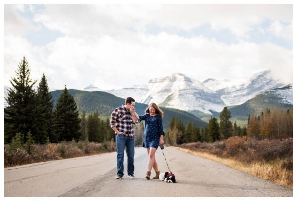 Kananaskis Forgetmenot Pond Engagement Photos | Lee & Alex | Canmore Wedding Photographer