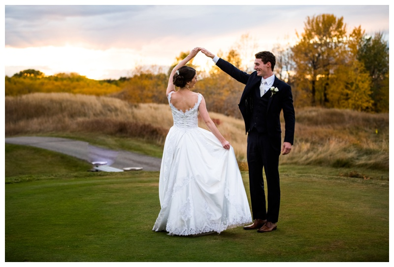 Carmoney Golf Course Fall Wedding Calgary