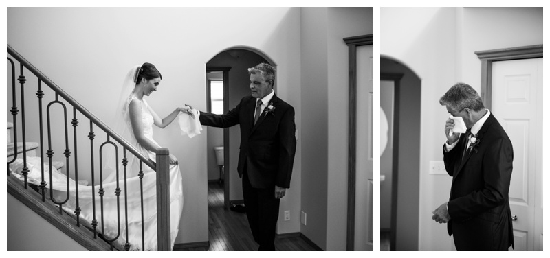 Dad & Daughter First Look Wedding Photos Calgary