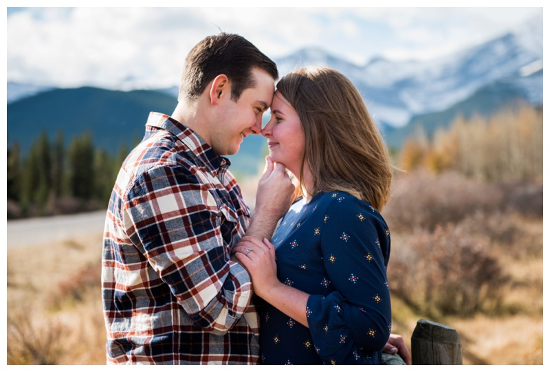 Kananaskis Forgetmenot Pond Engagement Photos
