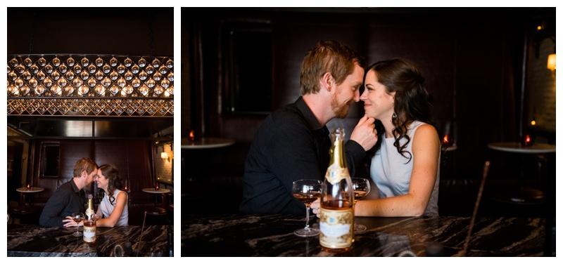 Engagement Photography Calgary - Frenchies Wine Bar