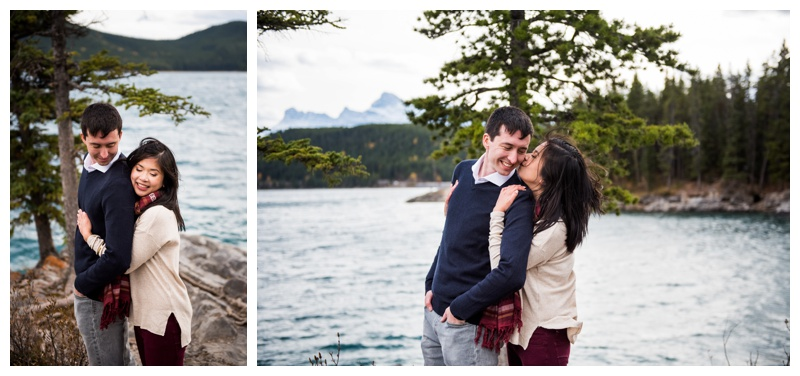Lake Minniwanka Banff - Engagement Photos