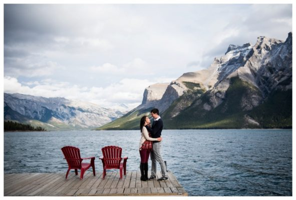Lake Minniwanka Engagement Session | Tim & Serina | Banff Engagement Photographer
