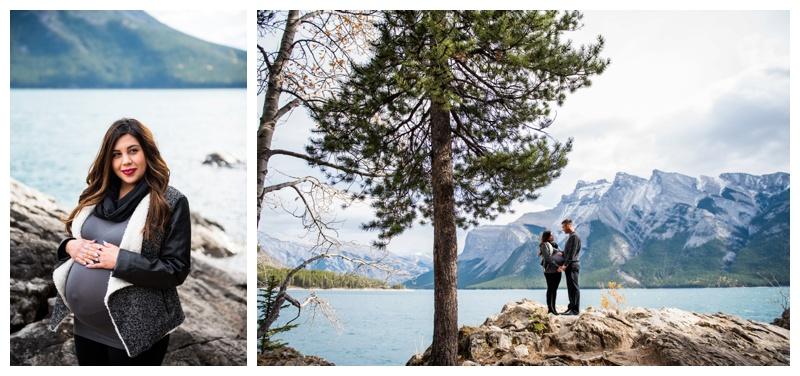Maternity Photos - Lake Minniwanka Banff