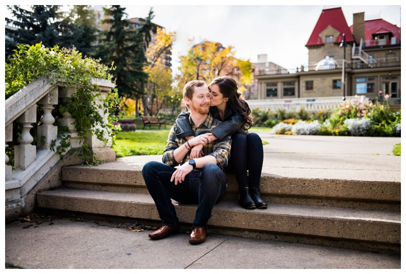 Peter Laugheed House Engagement Photography