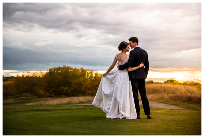 Sunset Wedding Photography - Calgary Wedding Photography
