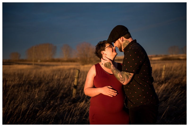 Airdrie Sunset Maternity Photography