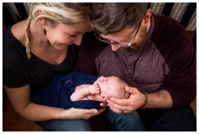 Lifestyle Newborn Photos - Calgary Newborn Photographer