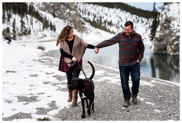 Goat Creek Trail Engagement Photos Canmore | Kelvin + Brittany | Canmore Engagement Photographer