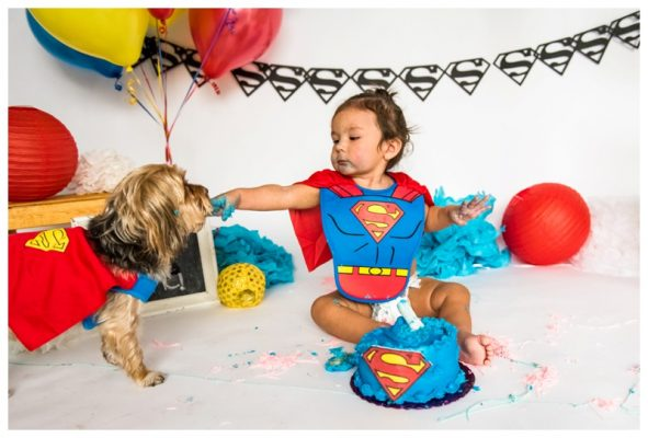 Superman Themed Calgary Cake Smash | Sebastian is ONE! | Calgary Cake Smash Photos
