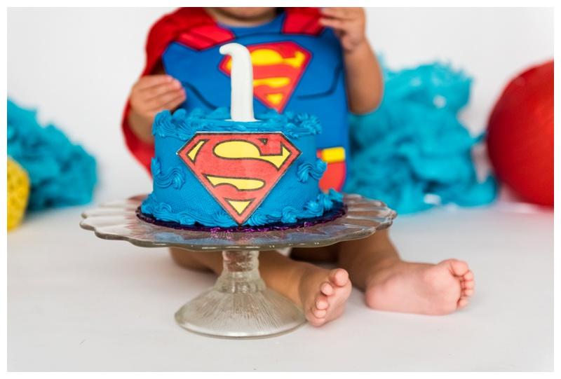 Superman Cake Smash