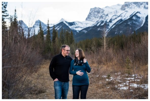 Canmore Iron Bridge Maternity Session | Canmore Maternity Photographer