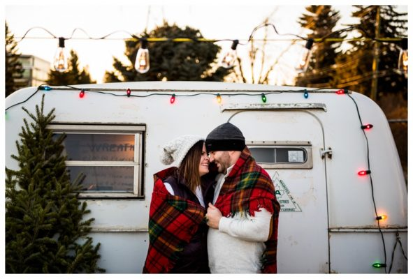 Calgary Christmas Tree Lot Engagement Photos | Peter & Rylie | Calgary Engagement Photographer