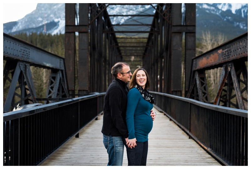 Iron Bridge Canmore - Canmore Maternity Photographer