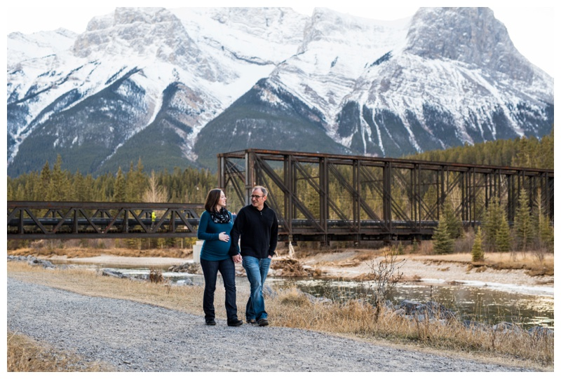 Canmore Iron Bridge Maternity Session