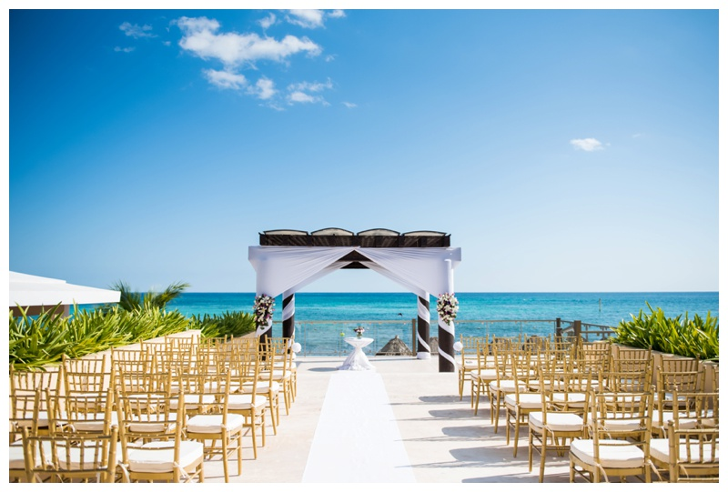 Now Jade Riviera Cancun Wedding Ceremony