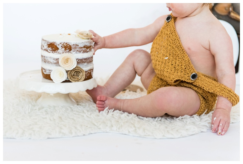 Calgary Studio Cake Smash Photographer
