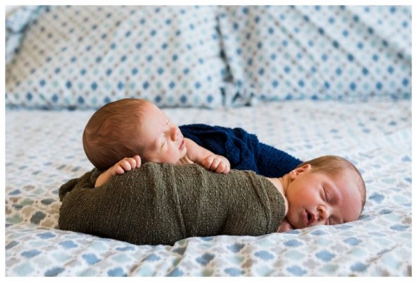 Calgary Twin Newborn Photography | Ethan & Austin | Calgary Newborn Photographer