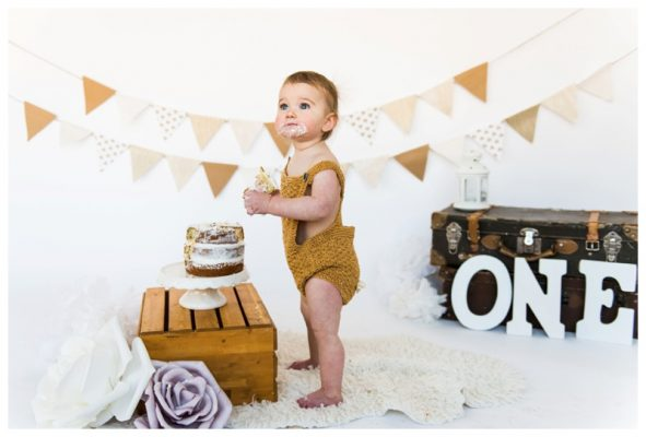 Calgary Studio First Birthday Cake Smash Session | Dylan is One!