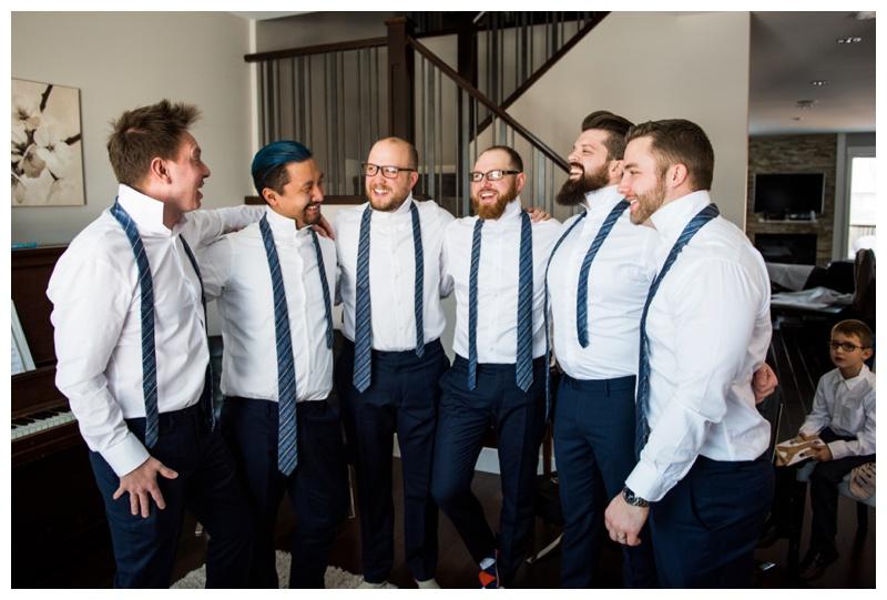 Groom Prep Wedding Photos Calgary