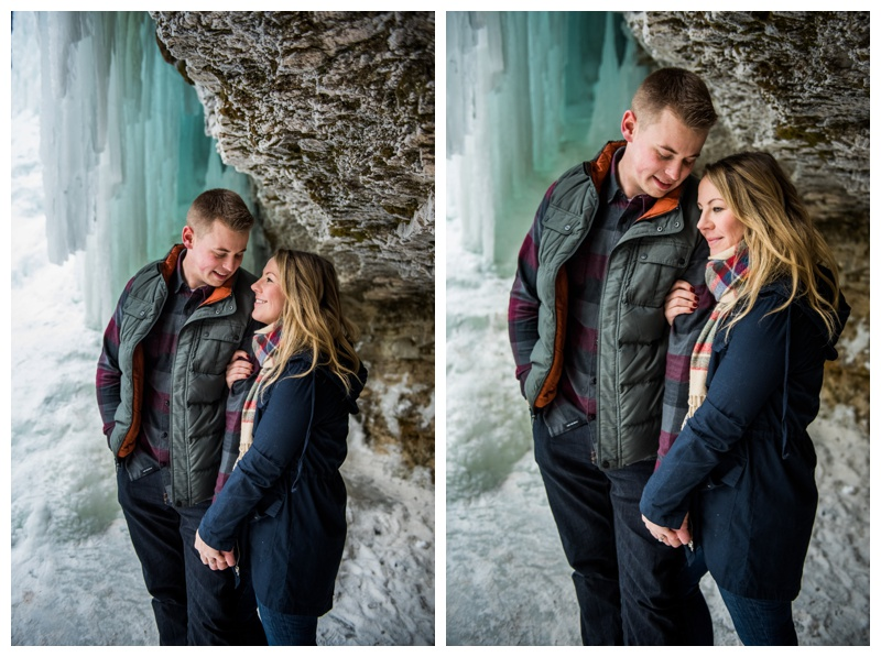 Kananaskis Waterfall Engagement Photos - Canmore Alberta