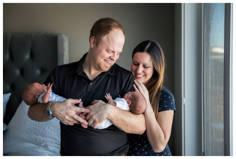 Lifestyle Newborn Photos Calgary - Twin Newborn Photography
