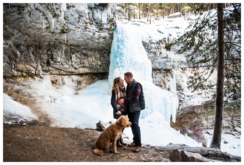 Troll Falls Kananaskis Engagement Photography