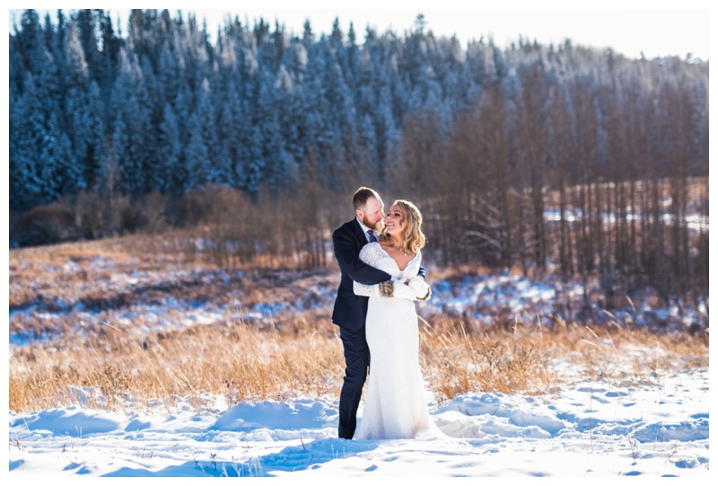 Winter Wedding Cochrane Alberta