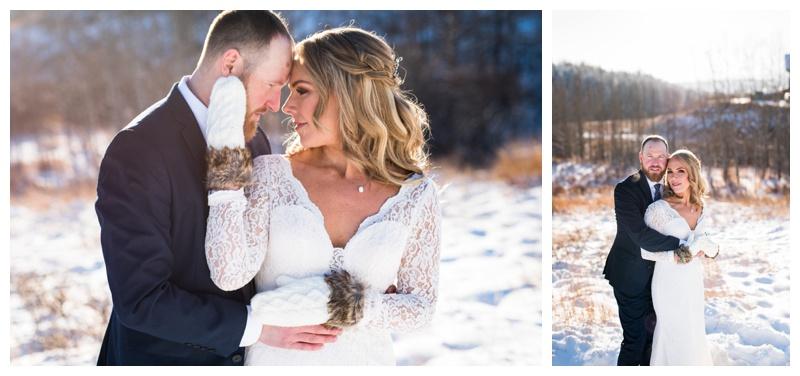 Winter Wedding Photography Cochrane Alberta