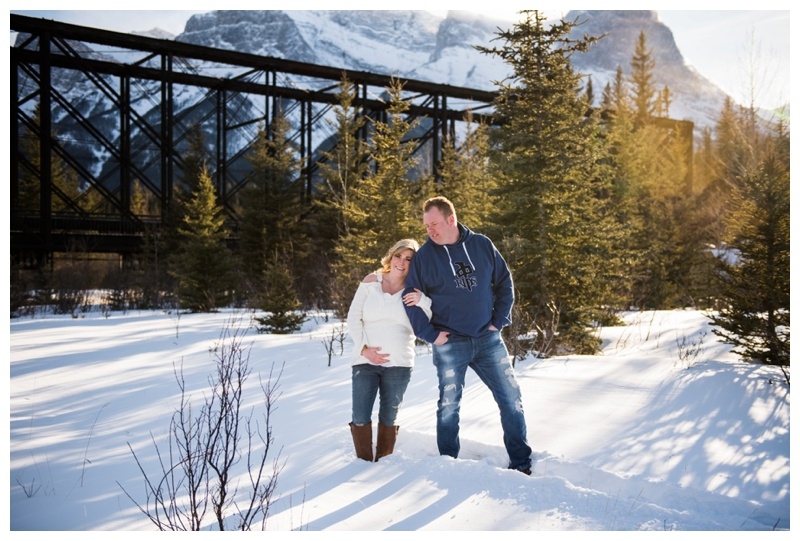 Sunset Maternity Photos Canmore