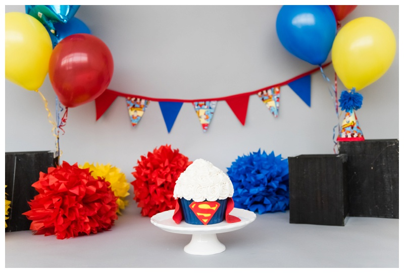 Superman Themed Cake Smash Session Calgary
