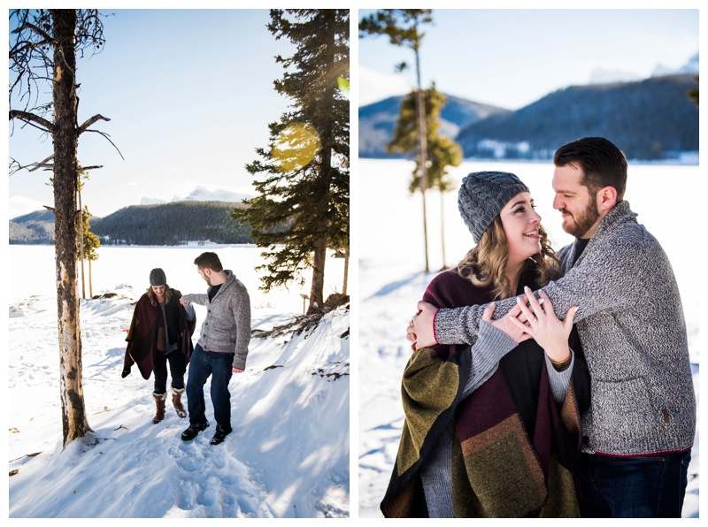 Winter Banff Engagment Session