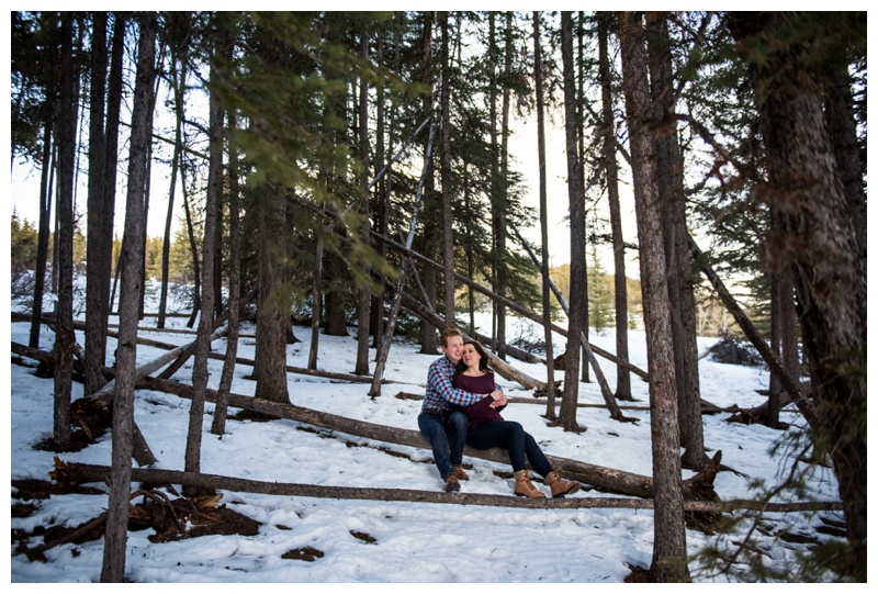 Winter Engagement Photos Banff Alberta