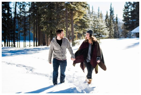 Lake Minniwanka Winter Engagement Session | Matthew & Jamie | Banff Wedding Photographer