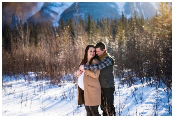 Winter Canmore Maternity Photography | Carson & Samantha | Canmore Maternity Photographer