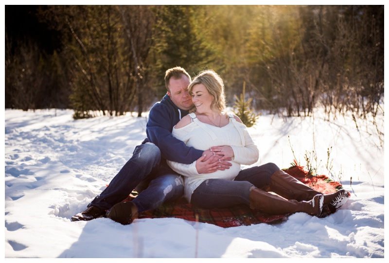 Winter Maternity Photos Canmore