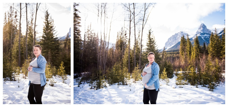 Winter Maternity Photos - Town of Canmore